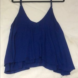 Toni Royal Blue Flowy Tank